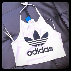 NWT Adidas crop halter top